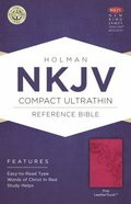 NKJV Compact Ultrathin Reference Bible Pink Leathertouch
