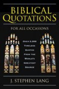 Biblical Quotations For All Occasions