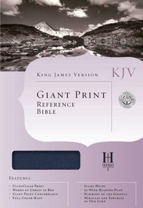 KJV Giant Print Reference Blue Indexed (Red Letter Edition)