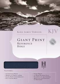 KJV Giant Print Reference Blue (Red Letter Edition)