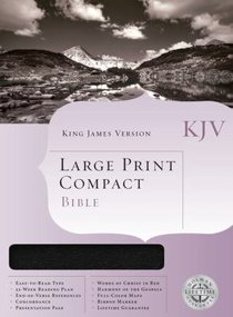 KJV Large Print Compact Bible Blue (Red Letter Edition)