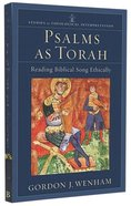 Psalms as Torah Paperback