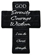 Mini Metal Serenity Prayer Cross, Philippians 4: 13 Homeware