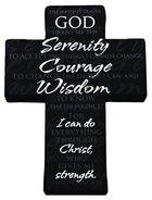 Mini Metal Serenity Prayer Cross, Philippians 4:13