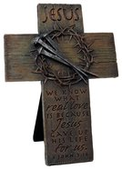 Cross Small: Jesus, Nails & Crown (Polyresin)