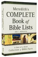Meredith's Complete Book of Bible Lists Paperback