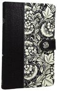 NKJV Ultraslim Compact Bible Designer Series Black White Flexi Back
