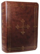 ESV Study Bible Brown Engraved Cross Design Imitation Leather
