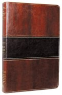 NKJV Large Print Ultrathin Reference Bible Mahogany Imitation Leather
