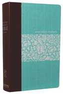 NLT Everyday Matters Bible For Women Deluxe Cloth With Leather Spine Hardback
