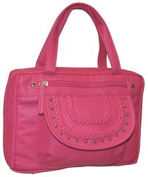 Bible Cover Fashion With Front Braided Cover: Pink Large