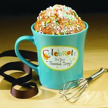 Cake Recipe Mug Including Whisk: Celebrate Its Your Special Day