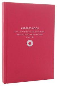Address Book: Moleskin Style Dark Pink Circle