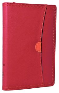 NIV Compact Thinline Bible Zippered Hot Pink/Tangerine Duo-Tone (Red Letter Edition)