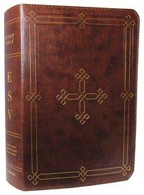 ESV Study Bible Brown Engraved Cross Design