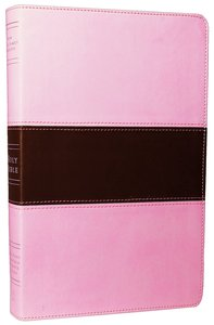 NKJV Large Print Ultrathin Reference Bible Pink/Brown