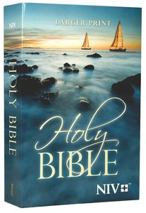 NIV Outreach Larger Print Bible Blue Boat (Black Letter Edition)