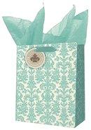 Gift Bag Medium: Grace and Glory Blue/Cream Pattern
