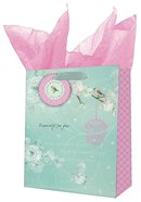 Gift Bag Medium: Precious and Loved Blue/Pink Bird