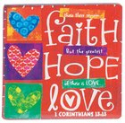 Ceramic Magnet: Faith Hope Love