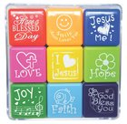 Christian Stamp Box Set of 9 Stamps, Each Stamp Size Is 28Mm X 28Mm
