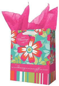 Gift Bag Medium: All Things Are Possible Bright Flowers