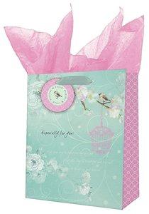 Gift Bag Medium: Precious and Loved Blue/Pink Bird