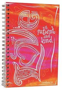 Journal: Love is Patient and Kind, Orange/Pink