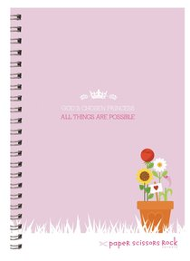 Girls Princess A5 Spiral Notepads: Gods Chosen Princess, All Things Are Possible