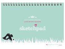 Girls Princess A4 Spiral Sketchpad: Gods Chosen Princess, Loved Beyond Measure