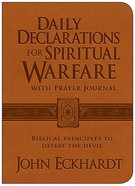 Daily Declarations For Spiritual Warfare With Prayer Journal Genuine Leather