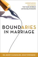 Boundaries In Marriage (Workbook)