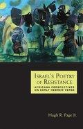 Israel's Poetry of Resistance Hardback