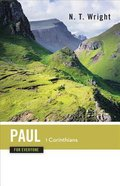 Paul-1 Corinthians (New Testament Guides For Everyone Series) Paperback