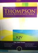 KJV Thompson Chain Reference Large Print Brown Hardback