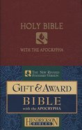 NRSV Gift & Award Bible With Apocrypha Burgundy Imitation Leather