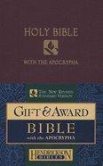 NRSV Gift & Award Bible With Apocrypha Royal Purple Imitation Leather