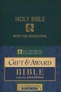 NRSV Gift & Award Bible With Apocrypha Dark Green Imitation Leather