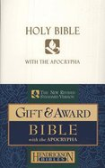 NRSV Gift & Award Bible With Apocrypha White Imitation Leather