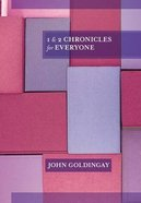 1 and 2 Chronicles For Everyone (Old Testament Guide For Everyone Series) Paperback