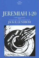 Jeremiah 1-20 (Anchor Yale Bible Commentaries Series) Hardback