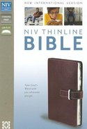 NIV Thinline Buckle Closure Bible Cranberry Duo-Tone (Red Letter Edition) Imitation Leather