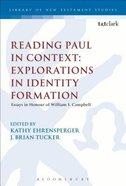 Reading Paul in Context (Library Of New Testament Studies Series) Paperback