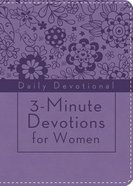 3-Minute Devotions For Women: Daily Devotional (Lavendar - Cover 1) Flexi Back