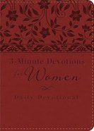 3-Minute Devotions For Women: Daily Devotional (Red - Cover 2)