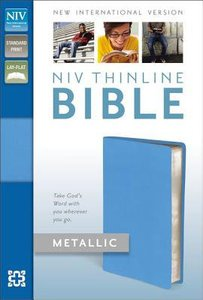 NIV Thinline Metallic Collection Bible Blue (Red Letter Edition)