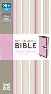 NIV Trimline Italian Duo Bible Choc/Pink