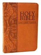 KJV Mini Pocket Bible Tan (Red Letter Edition) Imitation Leather