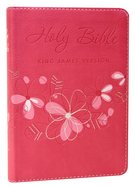 KJV Trendy Pocket Edition Pink Red Letter Edition Imitation Leather