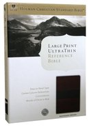 HCSB Large Print Ultrathin Bible Mahogany Simulated Leather Imitation Leather
